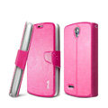 IMAK R64 lines leather Case Support Holster Cover for ZTE N909 - Rose