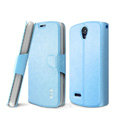 IMAK R64 lines leather Case Support Holster Cover for ZTE N909 - Sky blue