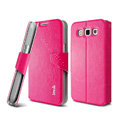 IMAK R64 lines leather Case support Holster Cover for Samsung i8552 Galaxy Win - Rose