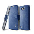 IMAK R64 lines leather Case support Holster Cover for Samsung i9260 GALAXY Premier - Dark blue