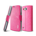 IMAK R64 lines leather Case support Holster Cover for Samsung i9260 GALAXY Premier - Rose