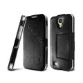 IMAK RON Series leather Case Support Holster Cover for Samsung GALAXY S4 I9500 SIV - Black