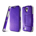 IMAK RON Series leather Case Support Holster Cover for Samsung GALAXY S4 I9500 SIV - Purple