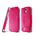 IMAK RON Series leather Case Support Holster Cover for Samsung GALAXY S4 I9500 SIV - Rose