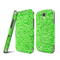 IMAK RON Series leather Case Support Holster Cover for Samsung GALAXY S4 I9500 SIV i9502 i9508 i959 - Green