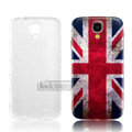IMAK Relievo Painting Case British flag Battery Cover for Samsung GALAXY S4 I9500 SIV - Red