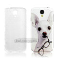 IMAK Relievo Painting Case Dog Battery Cover for Samsung GALAXY S4 I9500 SIV - White