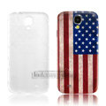 IMAK Relievo Painting Case USA American Flag Battery Cover for Samsung GALAXY S4 I9500 SIV - Red