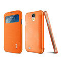 IMAK Shell Leather Case Holster Cover Skin for Samsung GALAXY S4 I9500 SIV i9502 i9508 i959 - Orange