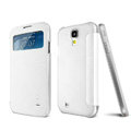 IMAK Shell Leather Case Holster Cover Skin for Samsung GALAXY S4 I9500 SIV i9502 i9508 i959 - White