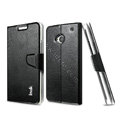 IMAK Slim Flip leather Case support Holster Cover for HTC One M7 801e - Black