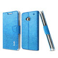 IMAK Slim leather Case support Holster Cover for HTC One 802t - Blue