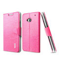 IMAK Slim leather Case support Holster Cover for HTC One 802t - Rose