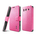 IMAK Slim leather Case support Holster Cover for Huawei G520 - Pink