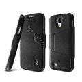 IMAK Squirrel lines leather Case Support Holster Cover for Samsung GALAXY S4 I9500 SIV - Black