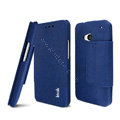 IMAK Squirrel lines leather Case support Holster Cover for HTC One 802t 802d 802w - Blue