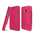 IMAK Squirrel lines leather Case support Holster Cover for HTC One 802t 802d 802w - Rose