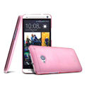 IMAK Ultrathin Clear Matte Color Cover Case for HTC One M7 801e - Pink