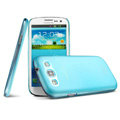 IMAK Ultrathin Clear Matte Color Cover Case for Samsung Galaxy SIII S3 I9300 I9308 I939 I535 - Blue