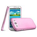 IMAK Ultrathin Clear Matte Color Cover Case for Samsung Galaxy SIII S3 I9300 I9308 I939 I535 - Pink