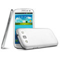 IMAK Ultrathin Clear Matte Color Cover Case for Samsung Galaxy SIII S3 I9300 I9308 I939 I535 - White