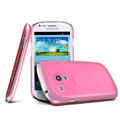 IMAK Ultrathin Clear Matte Color Cover Case for Samsung i8190 GALAXY SIII Mini - Pink