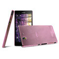 IMAK Ultrathin Clear Matte Color Cover Case for Sony Ericsson L36i L36h Xperia Z - Pink