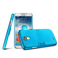 IMAK Ultrathin Matte Color Cover Support Case for Samsung GALAXY S4 I9500 SIV - Blue