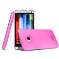 IMAK Water Jade Shell Hard Cases Covers for HTC One 802t - Rose