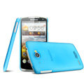 IMAK Water Jade Shell Hard Cases Covers for Lenovo S920 - Blue