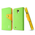 IMAK cross Flip leather case Button Holster holder cover for Samsung GALAXY S4 I9500 SIV - Green