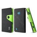 IMAK cross Flip leather case book Holster holder cover for Nokia Lumia 720 - Black