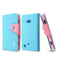 IMAK cross Flip leather case book Holster holder cover for Nokia Lumia 720 - Blue