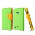 IMAK cross Flip leather case book Holster holder cover for Nokia Lumia 720 - Green