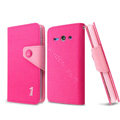 IMAK cross leather case Button holster holder cover for Huawei C8813 - Rose