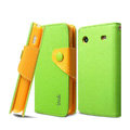 IMAK cross leather case Button holster holder cover for Samsung i8258 - Green