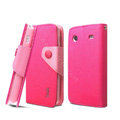 IMAK cross leather case Button holster holder cover for Samsung i8258 - Rose