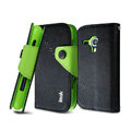 IMAK cross leather case Button holster holder cover for Samsung i8262D GALAXY Dous - Black