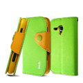 IMAK cross leather case Button holster holder cover for Samsung i8262D GALAXY Dous - Green