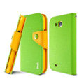 IMAK cross leather case Button holster holder cover for Samsung i879 i9128V - Green