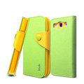 IMAK cross leather case Button holster holder cover for Samsung i939D GALAXY SIII - Green