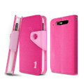 IMAK cross leather case Button holster holder cover for TCL S800 - Rose