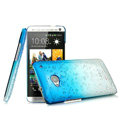 Imak Colorful raindrop Case Hard Cover for HTC One 802t 802w - Gradient Blue