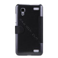Nillkin Fresh leather Case Bracket Holster Cover Skin for BBK vivo Xplay X510w - Black