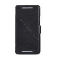 Nillkin Fresh leather Case Bracket Holster Cover Skin for HTC One 802t - Black