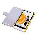 Nillkin Fresh leather Case Bracket Holster Cover Skin for HTC One 802t - Yellow