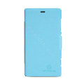 Nillkin Fresh leather Case Bracket Holster Cover Skin for Nokia Lumia 720 - Blue
