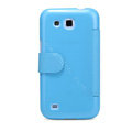Nillkin Fresh leather Case Holster Cover Skin for Samsung I869 Galaxy Win - Blue