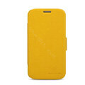 Nillkin Fresh leather Case Holster Cover Skin for Samsung I869 Galaxy Win - Yellow