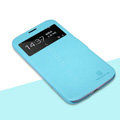 Nillkin Fresh leather Case Holster Cover Skin for Samsung I9200 Galaxy Mega 6.3 - Blue